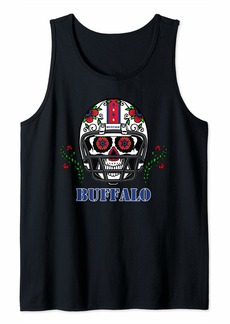 Buffalo Jeans Buffalo Football Helmet Sugar Skull Day Of The Dead Tank Top