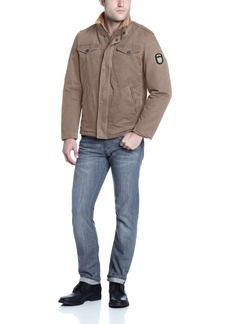Buffalo Jeans Buffalo Men's Zip Front Jacket with Inside Collar