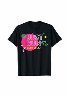 Buffalo Jeans Buffalo New York Just Run 1980's Design Graphic T-Shirt