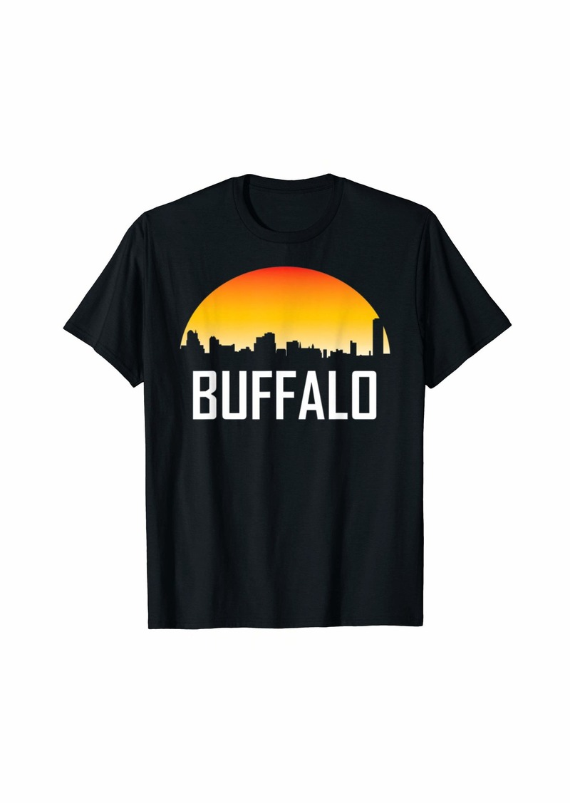 Buffalo Jeans Buffalo New York Sunset Skyline T-Shirt