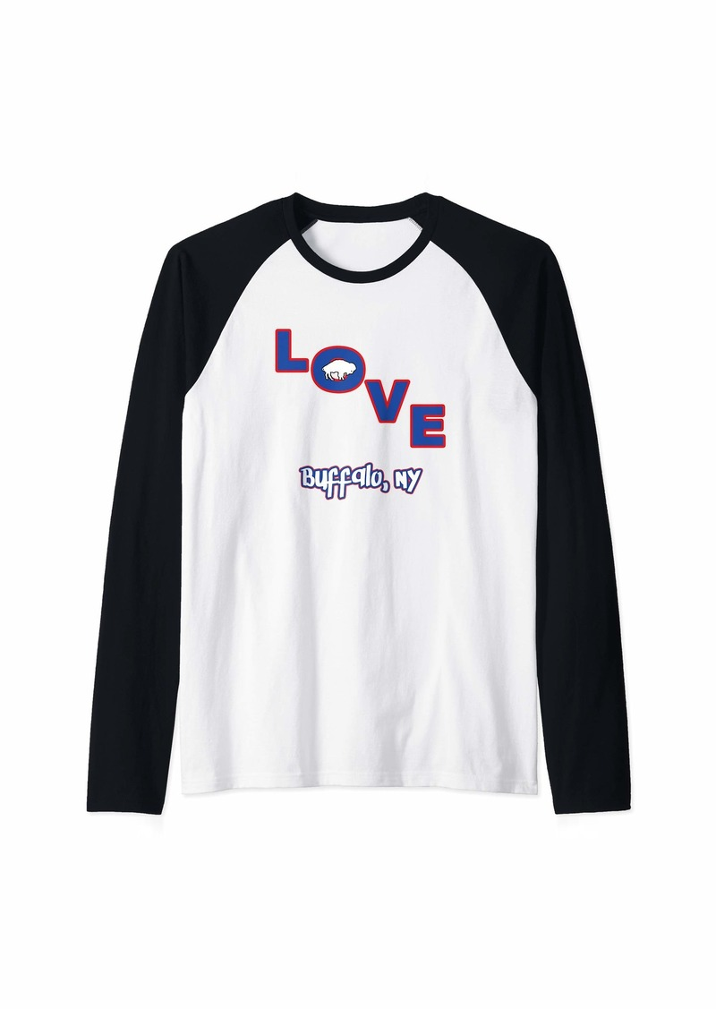 Buffalo Jeans Buffalo New York T Shirt - Love Buffalo New York Raglan Baseball Tee