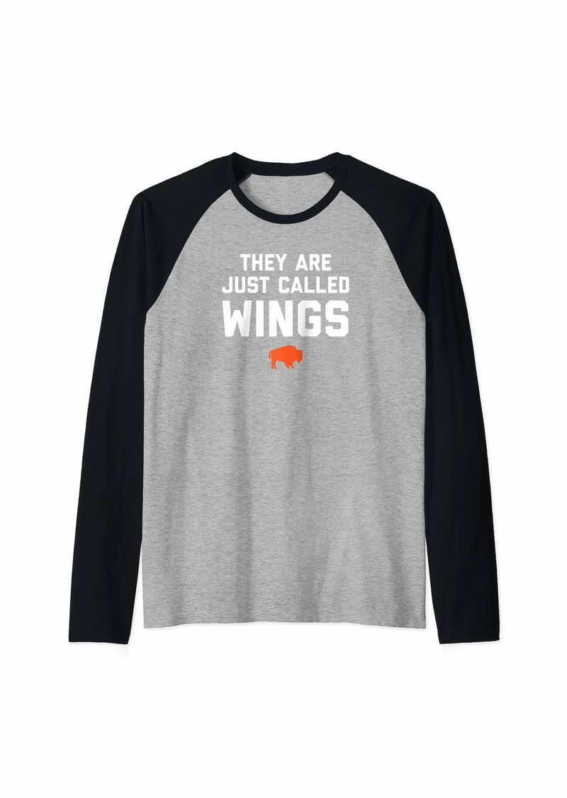 Buffalo Jeans Buffalo NY Chicken Wings Shirt - They Are Just Called Wings Raglan Baseball Tee