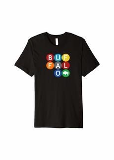 Buffalo Jeans Buffalo Ny Circle Design Queen City 716 for Men and Women Premium T-Shirt