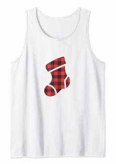 Buffalo Jeans Buffalo Plaid Christmas Stocking Tank Top