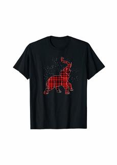 Buffalo Jeans Buffalo Plaid Elephant Christmas T-Shirt