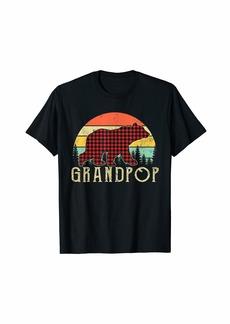 Buffalo Jeans Buffalo Plaid Grandpop Bear Gifts Christmas Day T-Shirt