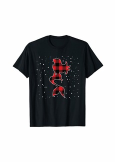 Buffalo Jeans Buffalo Plaid Mermaid Christmas Matching Pajama Xmas Gift T-Shirt