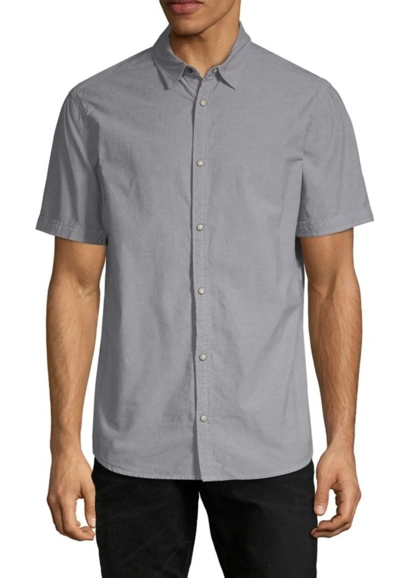 Buffalo Jeans Camo-Panel Short-Sleeve Shirt