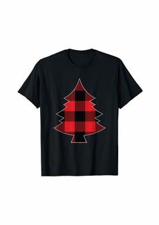 Buffalo Jeans Christmas Pjs For Men Women Kids Gift Tree Matching Plaid T-Shirt
