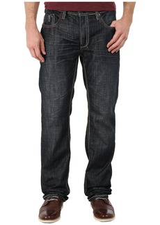 Buffalo Jeans Driven Basic Straight Jeans in Dark Worn Out