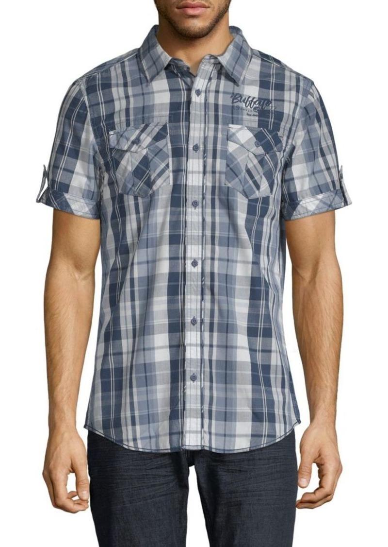 Buffalo Jeans Embroidered Plaid Shirt