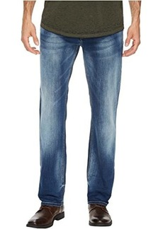 Buffalo Jeans Evan-X Slim Straight Leg Jeans in Veined and Whiskered