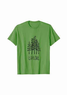 Buffalo Jeans Explore Pine Trees Camping Shirt Outdoor Forrest