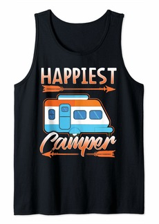 Buffalo Jeans Happiest Camper Gift Camping RV Tribal Arrow Camp Tank Top