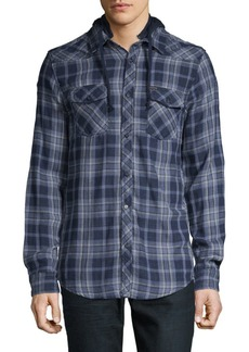 Buffalo Jeans Hooded Cotton Shirt
