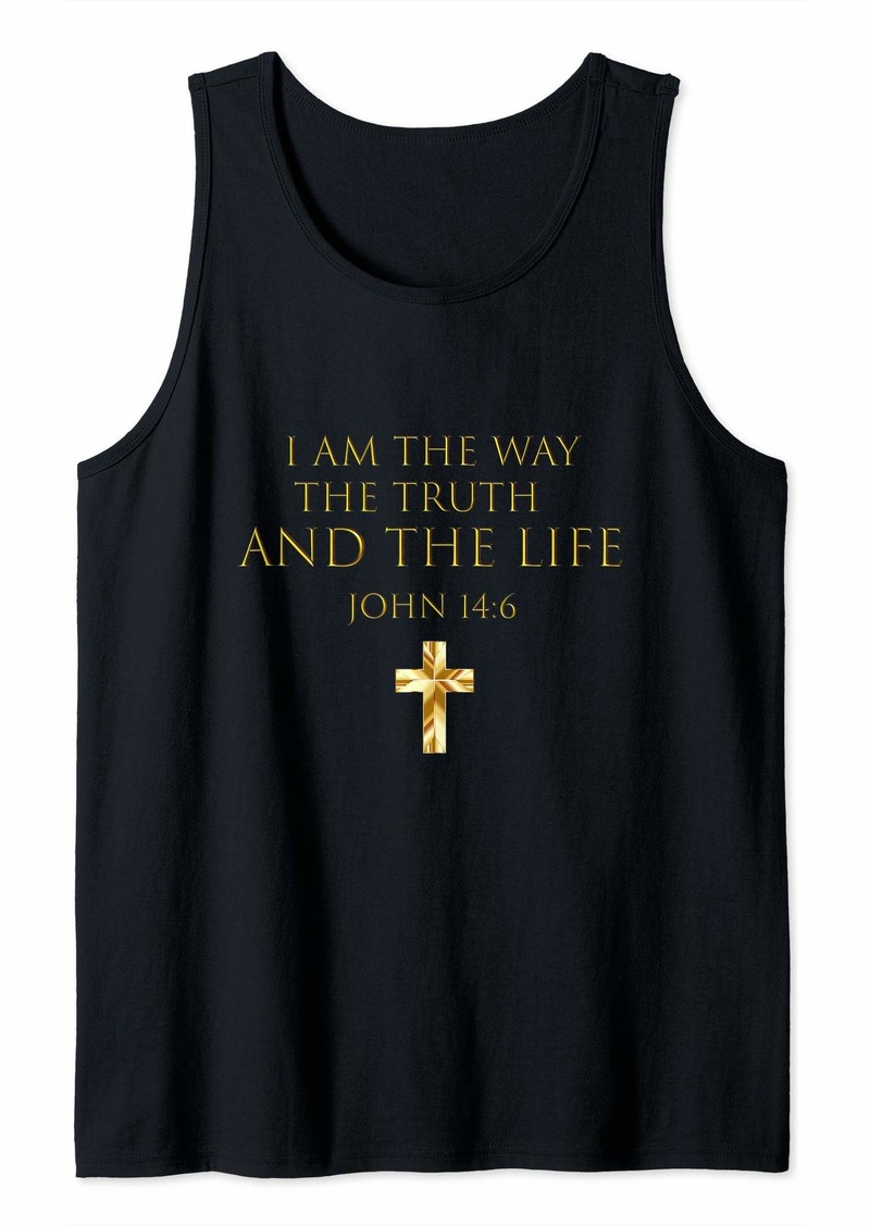 Buffalo Jeans John 14:6 Bible Verse I Am The Way The Truth And The Life Tank Top
