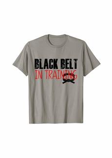 Buffalo Jeans Kids Taekwondo Shirt Black Belt In Training Karate Martial T-Shirt