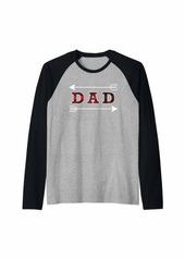 Buffalo Jeans Mens Buffalo Plaid Dad Lumberjack Family Birthday Gift Raglan Baseball Tee