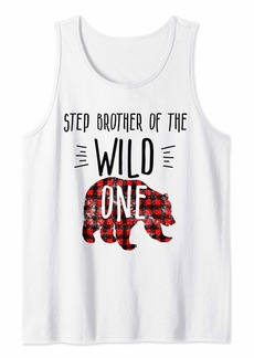 Buffalo Jeans Mens Step Brother Wild One Buffalo Plaid Lumberjack 1st Birthday Tank Top