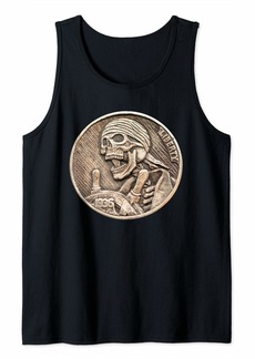 Buffalo Jeans Pirate Skeleton Hobo Nickel Coin Tank Top