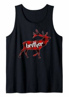 Buffalo Jeans Plaid Brother Buffalo Matching Family Reindeer Christmas Tank Top