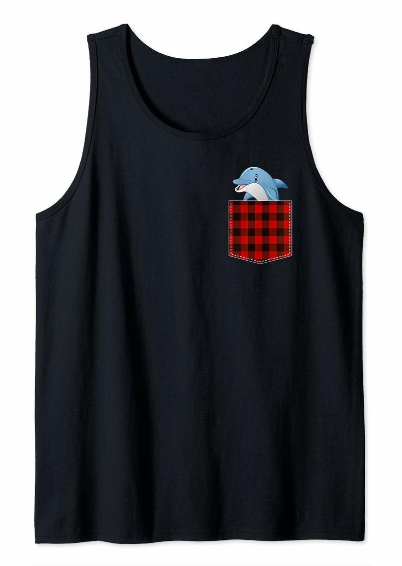 Buffalo Jeans Plaid Dolphin in Pocket Buffalo Family Pajama Sea Animal Tank Top