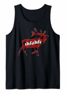 Buffalo Jeans Plaid Mama Buffalo Matching Family Reindeer Christmas Tank Top