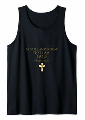 Buffalo Jeans Psalm 46:10 Bible Verse Be Still And Know That I Am God Tank Top