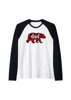 Buffalo Jeans Red Plaid Dad Buffalo Matching Family Papa Pajama Christmas Raglan Baseball Tee