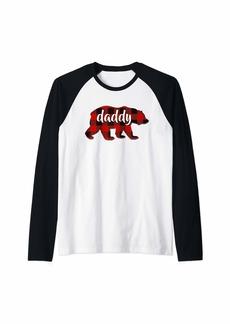 Buffalo Jeans Red Plaid Daddy Buffalo Matching Family Pop Pajama Christmas Raglan Baseball Tee