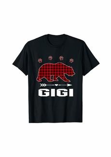 Buffalo Jeans Red Plaid Gigi Bear Matching Buffalo Pajama Gift T-Shirt