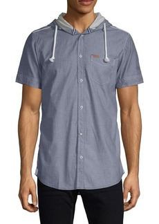 Buffalo Jeans Salvati Short-Sleeve Hooded Shirt