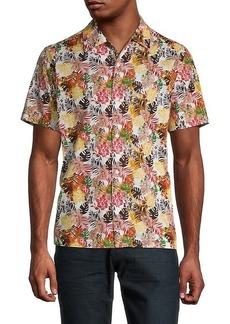 Buffalo Jeans Saprino Tropical-Print Shirt