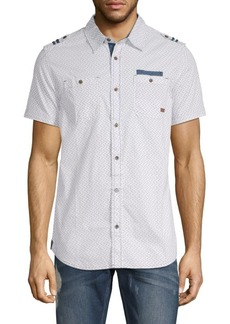 Buffalo Jeans Serhat Printed Cotton Button-Down Shirt