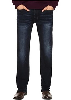 Buffalo Jeans Six Straight Leg Jeans in Authentic and Deep Indigo