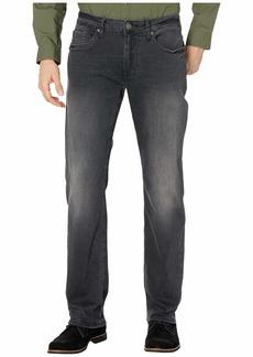 Buffalo Jeans Six-X Straight Leg Jeans in Black Sanded