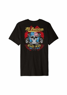 Buffalo Jeans Skull Biker Shirt Motorcycle USA All American Flag Badass