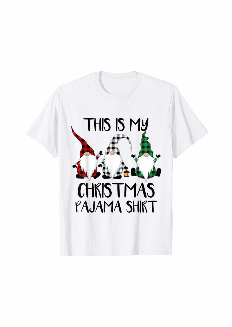 Buffalo Jeans This Is My Christmas Pajama Shirt Cute Buffalo Plaid Gnomies T-Shirt