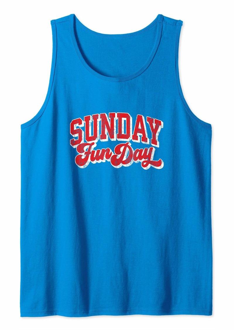 Buffalo Jeans Vintage Sunday Funday Buffalo Football Retro Fun Day Tank Top
