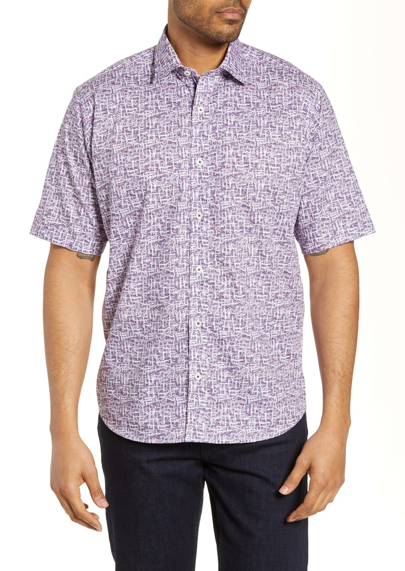 Bugatchi Classic Fit Abstract Print Shirt