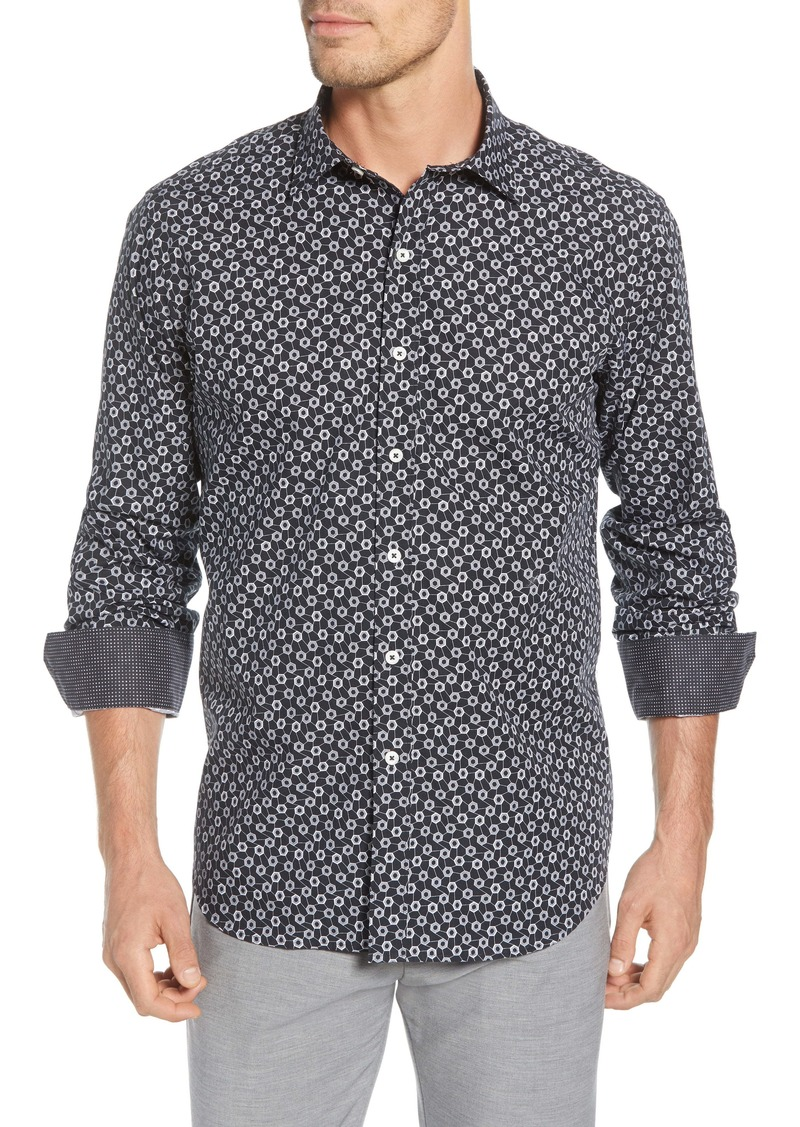 Bugatchi Classic Fit Button-Up Shirt