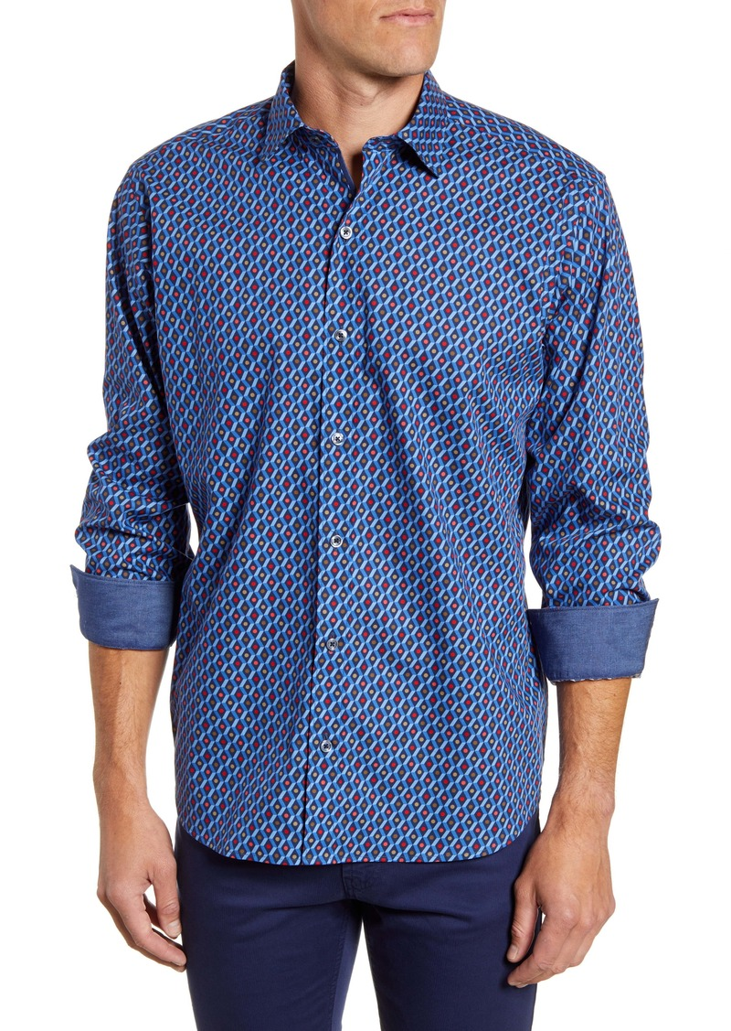 Bugatchi Classic Fit Button-Up Sport Shirt