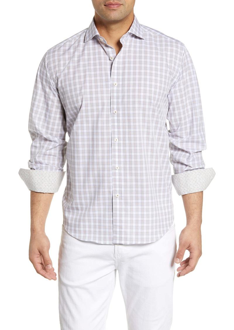 Bugatchi Classic Fit Check Cotton Shirt