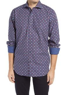 Bugatchi Classic Fit Dot Print Button-Up Shirt