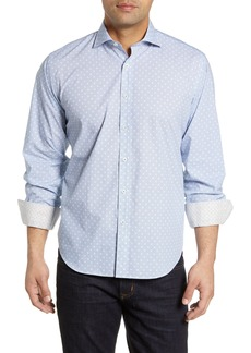 Bugatchi Classic Fit Floral Dot Cotton Sport Shirt