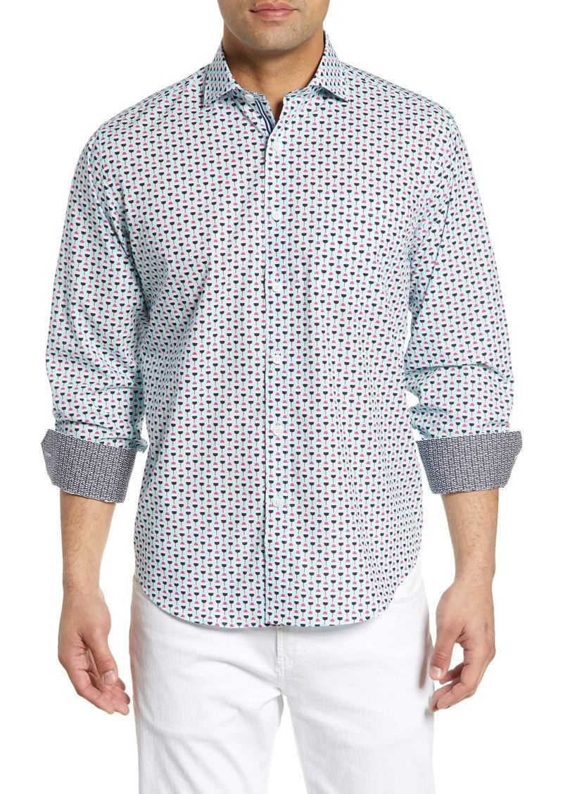 Bugatchi Classic Fit Ice Pop Print Cotton Sport Shirt