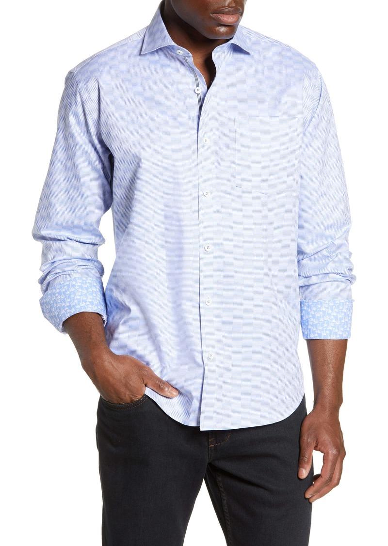Bugatchi Classic Fit Jacquard Shirt