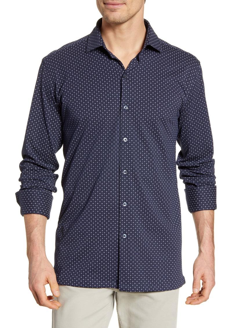 Bugatchi Classic Fit Knit Button-Up Shirt