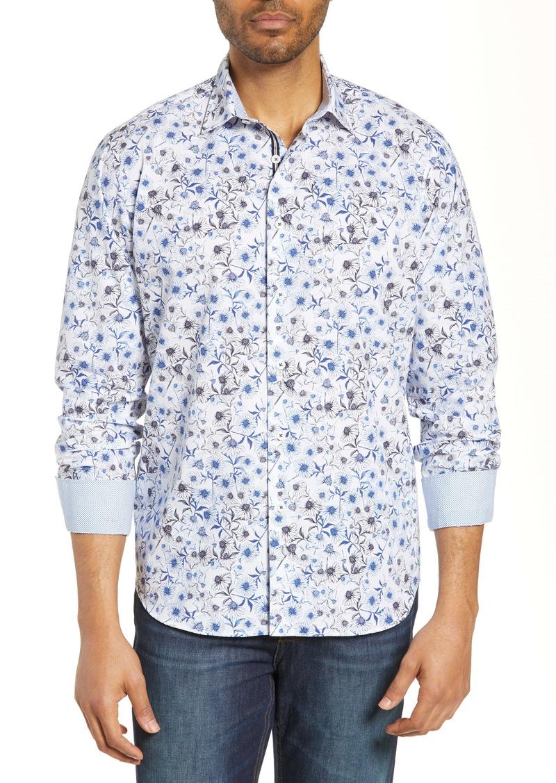 Bugatchi Classic Fit Linen Blend Shirt