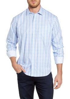 Bugatchi Classic Fit Plaid Button-Up Shirt